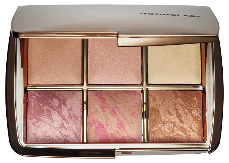 the hourglass ambient lighting strobing highlighter palette is a makeup product with creative packaging