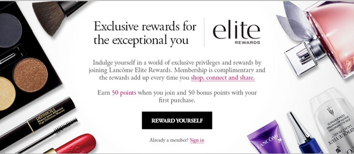 lancome elite rewards program benefits