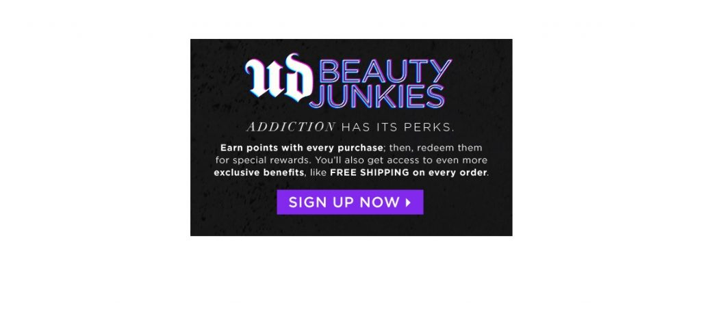 urban decay beauty junkies rewards program