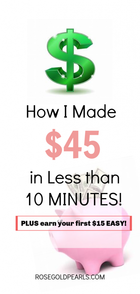 in this blog post, I explain exactly how I made easy money online quickly. With cashback websites like Swagbucks and Ebates, I was able to earn over $40 in only 10 minutes of my time! Here's how you can make legit money online easily and quickly! This is a great way to make money online for teens, college students, even stay at home moms!