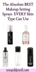 Here's a roundup of twelve good makeup setting sprays that can help literally anyone achieve a flawless makeup look. best makeup setting spray for oily skin | best makeup setting spray for acne prone skin | urban decay makeup setting spray | mac makeup setting spray | matte makeup setting spray | natural makeup setting spray | rose water makeup setting spray