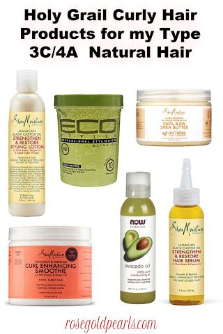The Best Curl Defining Natural Hair Products For Type 3c 4a Hair Rose Gold Pearls