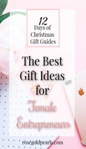 christmas gift guide for female entrepreneurs   gift ideas for girlbosses   gift ideas for female business owners and career women