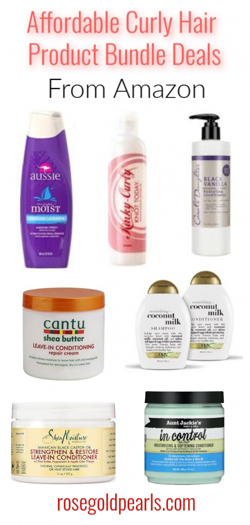Drugstore curly hair products you can buy on amazon. Amazon has amazing cheap bundle deals for your favorite curly hair products that will save you tons of money. Buy all of your favorite cheap curly hair products in bulk on Amazon to save money, stick to your budget, and stock up on all your natural hair care needs!